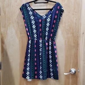 Colorful Tribal Print Mini Dress